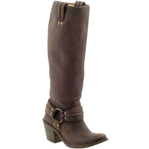"Frye ""Carmen Harness Tall"" in Dark Brown, Thefryecompany.com"