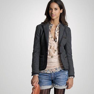 Wool Herringbone Professor Blazer, $198, J.Crew.com