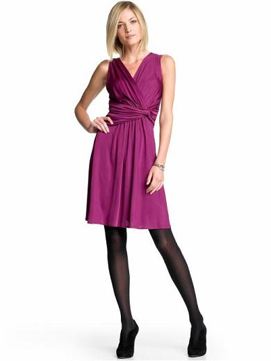 Banana Republic Tall Twist Wrap Dress in Deep Fuschia, Bananarepublic.com