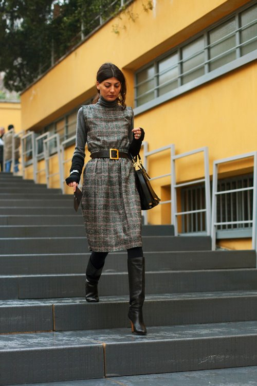 The perfect look to keep warm for fall! Photo: The Sartorialist