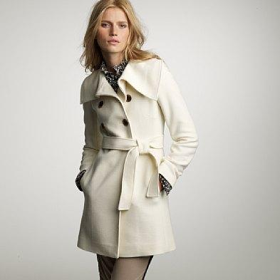 J.Crew Tall Double-Cloth Coat in Sea Salt, Jcrew.com