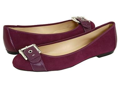 "French Sole ""Wiffle"" in Purple Suede, Zappos.com"